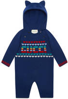 Gucci Baby intarsia wool cashmere sleepsuit