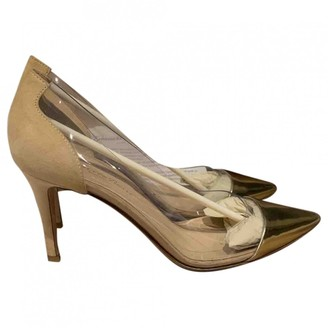 Gianvito Rossi Plexi Gold Plastic Heels