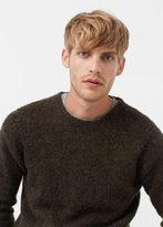 MANGO MAN Flecked Wool Sweater