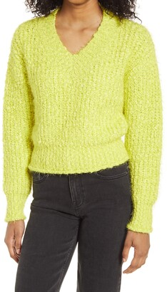 Endless Rose V-Neck Rib Sweater
