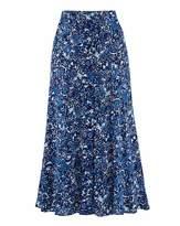 Web Print Crinkle Skirt Length 27in