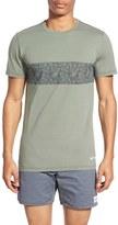 rhythm Men's 'Leaf' Cut-And Sew Graphic Crewneck T-Shirt