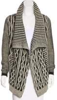 Yigal Azrouel Wool Open-Front Cardigan