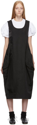 Comme des Garcons Black Satin Tank Dress