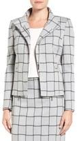 Halogen Windowpane Check Stretch Suit Jacket (Regular & Petite)