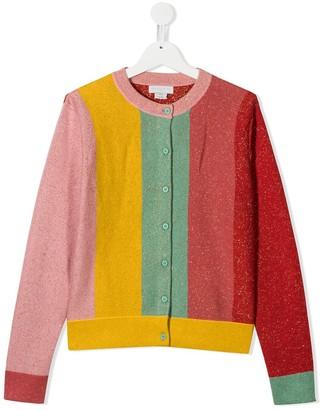 Stella Mccartney Kids TEEN striped lurex cardigan