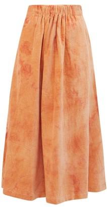 story. Mfg. - Todash Organic-cotton Corduroy Skirt - Womens - Pink