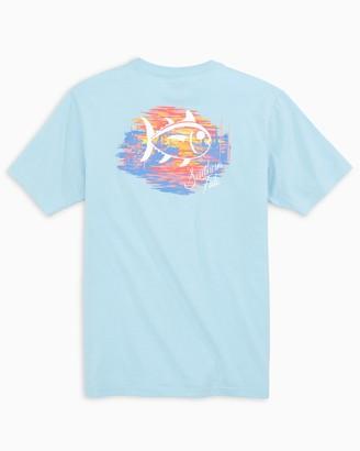 Southern Tide Sunset Marina Skipjack T-Shirt