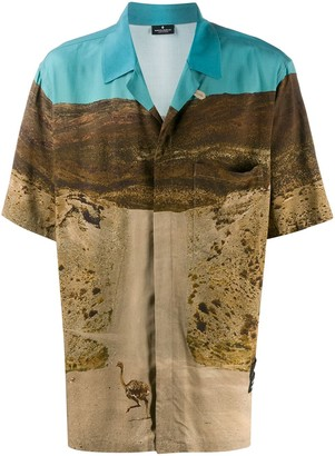 Marcelo Burlon County of Milan Ostrich photographic-print shirt