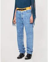 Maison Margiela Shell-trimmed straight jeans