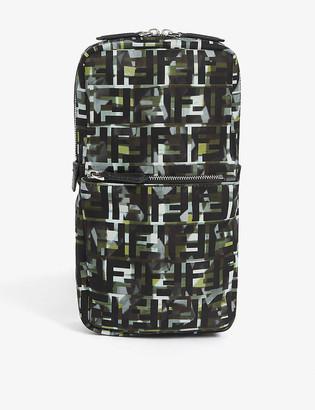 Fendi Baguette FF camouflage cross-body bag