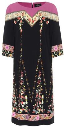 Etro Floral stretch-crApe dress