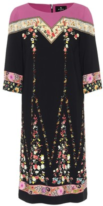 Etro Floral stretch-crepe dress