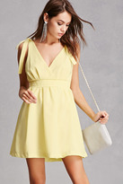 Forever 21 FOREVER 21+ Self-Tie Shoulder Mini Dress