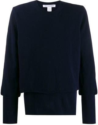 Comme des Garçons Shirt Layered Knitted Jumper