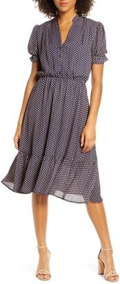 Fraiche by J Puff Sleeve Midi Dress