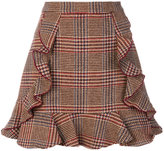 Manoush ruffled check skirt