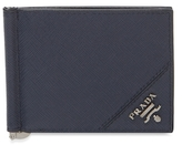 Prada Saffiano Leather Money Clip Wallet
