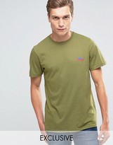 Penfield T-shirt With Mountain Logo In Olive Exclusive