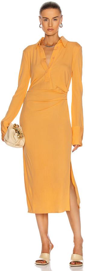 Helmut Lang Shirt Dress in Safety Orange   FWRD