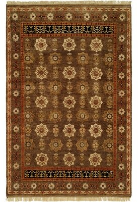 Wildon Home Brisbane Oriental Hand Knotted Wool Brown Area Rug Rug Size: Rectangle 12' x 15'