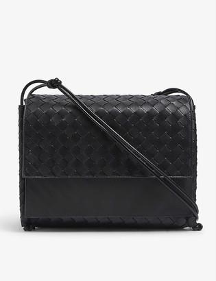Bottega Veneta Fold large Intrecciato-weave leather satchel bag
