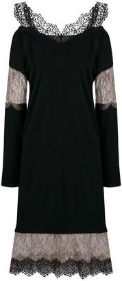 Blumarine lace insert jumper dress
