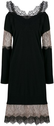 Blumarine Lace Insert Jumper Dress