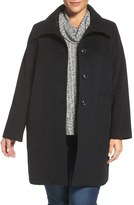 Kristen Blake Patch Pocket Wool Blend Topcoat