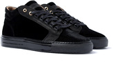 Android Homme Propulsion Mid Black Velour Trainers