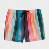 Paul Smith Men's 'Artist Stripe' Print Swim Shorts