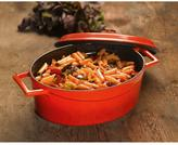 Lava Signature 5 Qt. Enameled Cast Iron Oval Dutch Oven in Cayenne Red