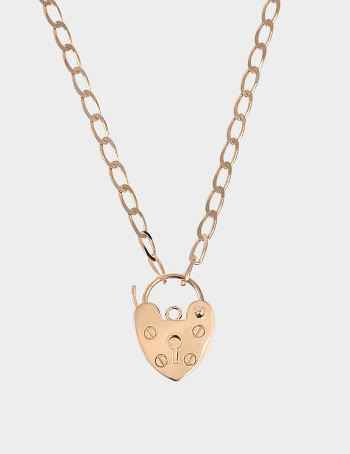 ginette_ny Mini providence 18-karat rose gold necklace