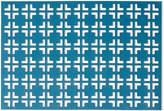 Kim Seybert Teal/Gray Grid Placemat