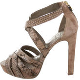 Tory Burch Embossed Multistrap Sandals