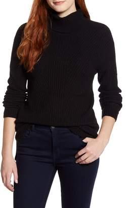 Caslon Textured Turtleneck Sweater