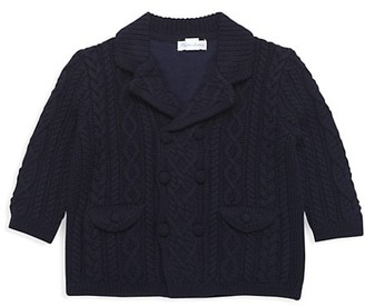 Ralph Lauren Baby Boy's Merino Wool Cable Knit Coat