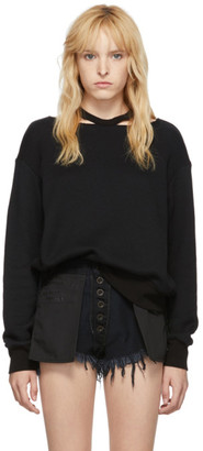 Unravel Black Cut-Out Crewneck Sweater