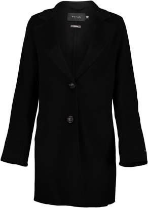 T Tahari Women's Car Coats BLACK - Black Handmade Double Face Jayden Wool-Blend Topper - Women
