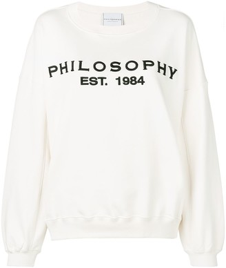 Philosophy di Lorenzo Serafini Dropped Shoulder Logo Sweatshirt