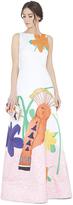 Alice + Olivia Honey Printed Embellished Aline Gown