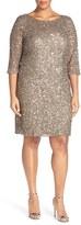 Pisarro Nights Plus Size Women's Draped Back Beaded Dress
