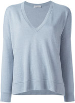 Brunello Cucinelli V neck sweatshirt - women - Cashmere - S