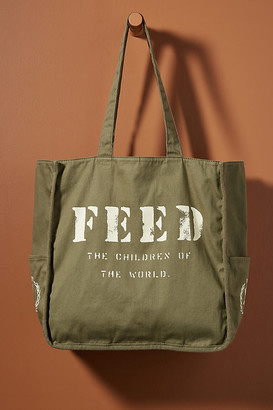 FEED Side-Pocket Tote Bag By FEED in Green Size ALL