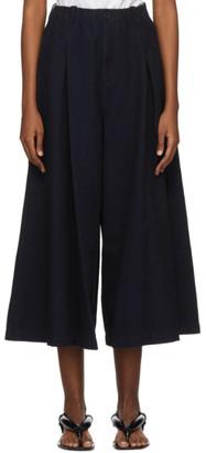 Blue Blue Japan Navy Yarn-Dyed Sashiko Trousers