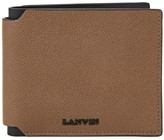 Lanvin Brown Grained Leather Wallet