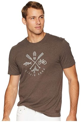 Life is Good Outdoor Action Crusher T-Shirt (Heather Rich Brown) Men's T Shirt