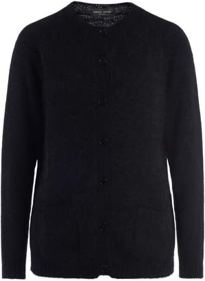 Roberto Collina Black Sweater With Front Buttons