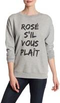 South Parade Alexa Rose S'il Vous Plait Crew Neck Sweatshirt