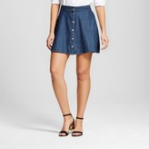 Merona Women's Denim Button Front Skirt